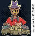 night club dj playing music on... | Shutterstock .eps vector #531031201