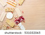 collection of beans candies and ... | Shutterstock . vector #531032065