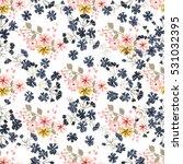 simple cute pattern in small... | Shutterstock .eps vector #531032395