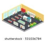 supermarket isometric... | Shutterstock .eps vector #531036784