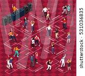 disco club bar dancing floor... | Shutterstock .eps vector #531036835