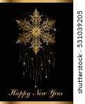 template of happy new year... | Shutterstock .eps vector #531039205