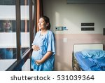 portrait of patient pregnant... | Shutterstock . vector #531039364