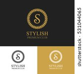 monogram emblem in dark  light... | Shutterstock .eps vector #531044065