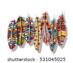 american indian decorated... | Shutterstock .eps vector #531045025