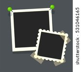 flat vector photo frames on... | Shutterstock .eps vector #531046165