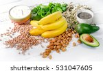 Stock photo foods containing magnesium healthy diet eating concept 531047605