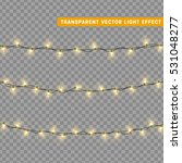christmas lights isolated...   Shutterstock .eps vector #531048277