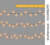 christmas lights isolated... | Shutterstock .eps vector #531048295