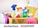 close up of cleaning supplies... | Shutterstock . vector #531049399