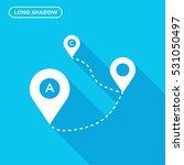 map tag vector icon  direction... | Shutterstock .eps vector #531050497
