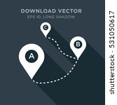 map tag vector icon  direction... | Shutterstock .eps vector #531050617