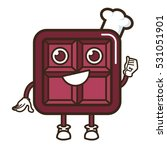 square chocolate character...   Shutterstock .eps vector #531051901