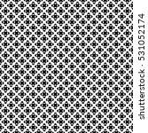 vector seamless pattern  black  ...   Shutterstock .eps vector #531052174