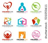 children and care logo vector... | Shutterstock .eps vector #531053611