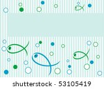 frame with fish | Shutterstock . vector #53105419
