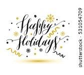 christmas lettering. vector... | Shutterstock .eps vector #531054709