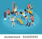 gym isometric template with... | Shutterstock .eps vector #531055555