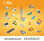wireless technology electronic... | Shutterstock .eps vector #531055615