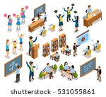 college university students... | Shutterstock .eps vector #531055861