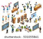 college university students... | Shutterstock .eps vector #531055861