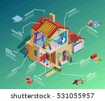 home repair isometric... | Shutterstock .eps vector #531055957