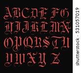 vampire font   vector | Shutterstock .eps vector #531057019