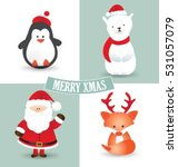 collection of christmas... | Shutterstock .eps vector #531057079