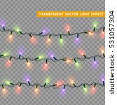 christmas lights isolated... | Shutterstock .eps vector #531057304