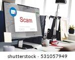 e mail popup warning window... | Shutterstock . vector #531057949