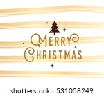 merry christmas text design.... | Shutterstock .eps vector #531058249
