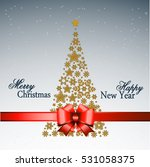 christmas tree from beautiful... | Shutterstock .eps vector #531058375