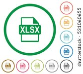 xlsx file format flat color... | Shutterstock .eps vector #531060655