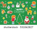 christmas pattern  adorable... | Shutterstock .eps vector #531062827