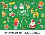christmas pattern  adorable... | Shutterstock .eps vector #531062827