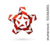red stripes christmas star.... | Shutterstock .eps vector #531063001