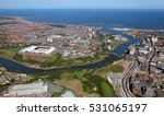Aerial View Of The Uk City Of...