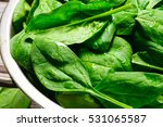 Washed Fresh Mini Spinach In A...