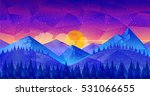 low poly nature landscape great ... | Shutterstock .eps vector #531066655