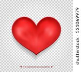 red heart. valentine's day red... | Shutterstock .eps vector #531069979