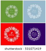 set of seasonal greeting with... | Shutterstock .eps vector #531071419