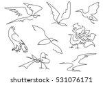 linear sketch birds silhouette...   Shutterstock .eps vector #531076171