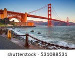 Stock photo san francisco image of golden gate bridge in san francisco california during sunrise 531088531