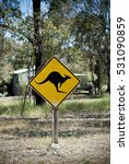 Small photo of kangaroo advisory sign in the country