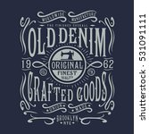 Denim Typography  T Shirt...