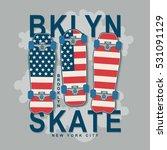 skate board america flag... | Shutterstock .eps vector #531091129