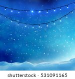 Holiday Background With Colore...
