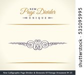 new calligraphic page divider... | Shutterstock .eps vector #531095995