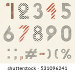 hand drawn numeral and... | Shutterstock .eps vector #531096241