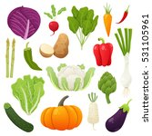 cute and tasty vegetables...   Shutterstock .eps vector #531105961